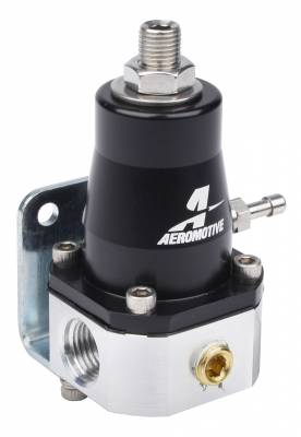 Fuel System - Fuel Pressure Regulators - Aeromotive Fuel System - Aeromotive Fuel System Regulator - EFI Bypass, Adjustable (2) -6 inlets, (1) -6 return 13129