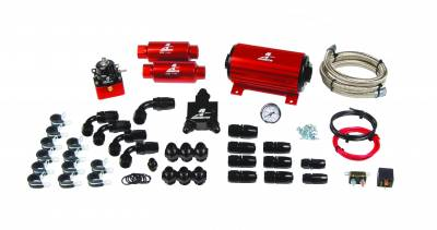 SHOP BY PART - Lift Pumps - Aeromotive Fuel System - Aeromotive Fuel System A1000 System(11101 pump,13101 reg,filters,hose,hose ends,fittings,wiring kit). 17125