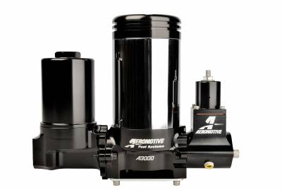 SHOP BY PART - Lift Pumps - Aeromotive Fuel System - Aeromotive Fuel System A3000 Drag Race Carbureted Fuel Pump Complete (Includes Pump, Filter, Regulator) 11215