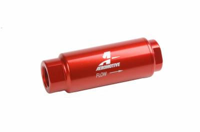 Fuel System - Filters - Aeromotive Fuel System - Aeromotive Fuel System Filter, In-Line (3/8 NPT) 100 micron Stainless Steel element 12316