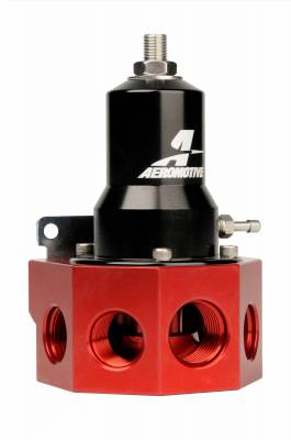 Fuel System - Fuel Pressure Regulators - Aeromotive Fuel System - Aeromotive Fuel System Regulator, 30-120 psi, .500 Valve, 4x AN-08 and; AN-10 inlets, AN-10 Bypass 13133