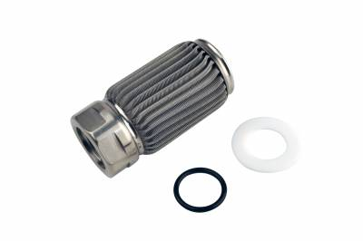 Fuel System - Filters - Aeromotive Fuel System - Aeromotive Fuel System Filter Element, Crimp, AN-10, 100 Micron Stainless Steel 12606