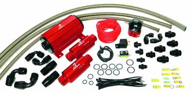 SHOP BY PART - Lift Pumps - Aeromotive Fuel System - Aeromotive Fuel System A1000 Carbureted System(11101 pump,13204 reg.,filters,hose,fittings,wiring kit) 17242