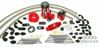 SHOP BY PART - Lift Pumps - Aeromotive Fuel System - Aeromotive Fuel System A2000 Complete Drag Race Fuel System Dual Carbs(11202 pump, 13203 reg,lines) 17204