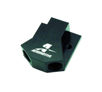 SHOP BY PART - Fuel System Plumbing - Aeromotive Fuel System - Aeromotive Fuel System Block one (1) 10 AN  to (2)  two 8 AN 15620