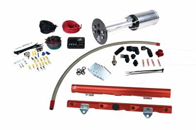 Fuel System - Lift Pumps - Aeromotive Fuel System - Aeromotive Fuel System System, C6 Corvette, 18670 A1000, 14142 LS-7 Rails, 16306 PSC; Misc. Fittings 17179