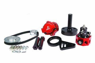 SHOP BY PART - Lift Pumps - Aeromotive Fuel System - Aeromotive Fuel System B.B Chevy Belt Drive Kit(17241 pump kit and; 13209 double adjustable regulator) 17243