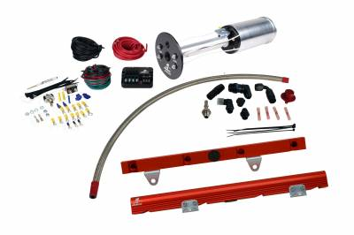 SHOP BY PART - Lift Pumps - Aeromotive Fuel System - Aeromotive Fuel System System, C6 Corvette, 18670 A1000, 14106 LS-1 Rails, 16306 PSC; Misc. Fittings 17173
