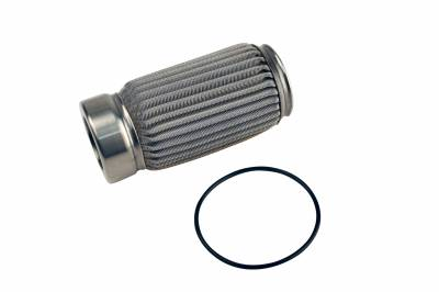 Fuel System - Filters - Aeromotive Fuel System - Aeromotive Fuel System Filter Element, Crimp, 100 Micron Stainless(Fits 12304,12307,12324,12331,12354) 12614