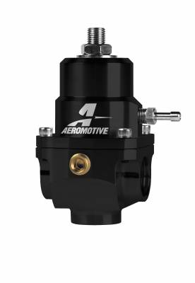 Fuel System - Fuel Pressure Regulators - Aeromotive Fuel System - Aeromotive Fuel System Regulator, Adjustable, 35-75psi, .188 Valve, (2)-08inlets, -08 return 13303