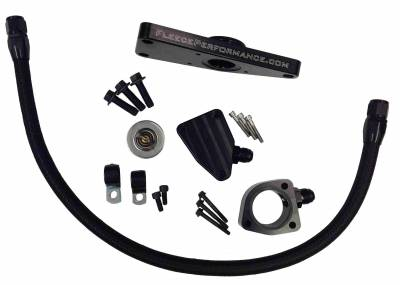 SHOP BY PART - Coolant Bypass Pipes - Fleece Performance - Fleece Performance Cummins Coolant Bypass Kit (2007.5-2016 6.7L) FPE-CLNTBYPS-CUMMINS-6.7