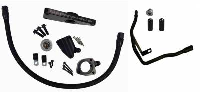 SHOP BY PART - Coolant Bypass Pipes - Fleece Performance - Fleece Performance Cummins Coolant Bypass Kit (2003-2005 Auto Trans) FPE-CLNTBYPS-CUMMINS-0305