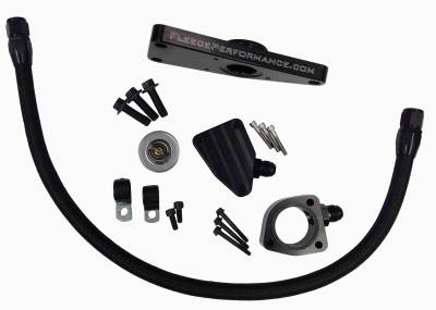 SHOP BY PART - Coolant Bypass Pipes - Fleece Performance - Fleece Performance Cummins Coolant Bypass Kit (2003-2007 Manual Transmission) FPE-CLNTBYPS-CUMMINS-MAN
