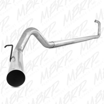 "SHOP BY PART - Exhuast System Kits - MBRP Exhaust - MBRP Exhaust 4"" Turbo Back, Single Side Off-Road - no muffler S6212PLM"
