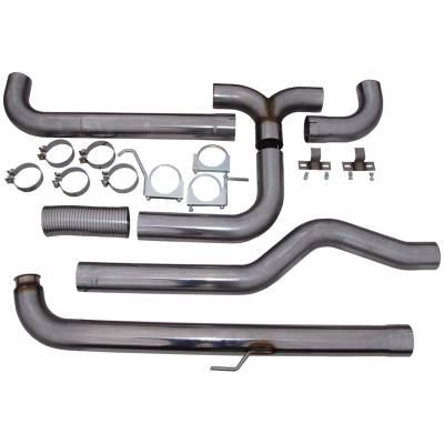 "SHOP BY PART - Exhaust System Kits - MBRP Exhaust - MBRP Exhaust 4"" Down Pipe Back Dual SMOKERS (incl. front pipe), T409 S8000409"