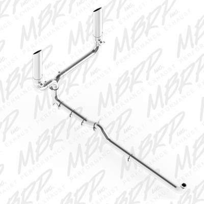 "SHOP BY PART - Exhaust System Kits - MBRP Exhaust - MBRP Exhaust 4"" Down Pipe Back, SMOKERS (incl. B1610 stacks), T409 S9000409"