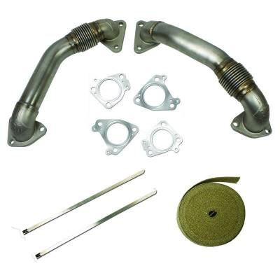 EXHAUST COMPONETS - EXHAUST MANIFOLDS & UP-PIPES - BD Diesel - BD Diesel UpPipes Kit - Chevy 2001-2015 6.6L Duramax 1043800