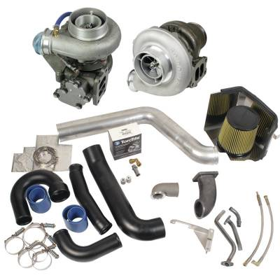 SHOP BY PART - Turbo Rebuild Kits - BD Diesel - BD Diesel Super B Twin Turbo Kit w/FMW Billet Wheel on Secondary - Dodge 1994-1998 12-vlv 1045310
