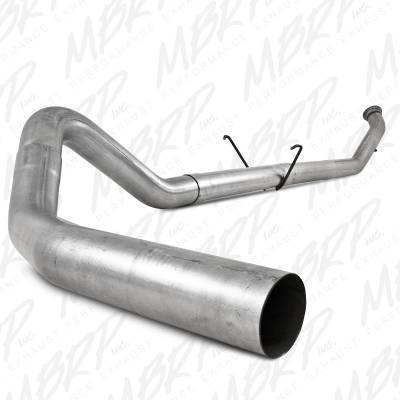 "SHOP BY PART - Exhuast System Kits - MBRP Exhaust - MBRP Exhaust 4"" Turbo Back, Single Side - no muffler S6126PLM"