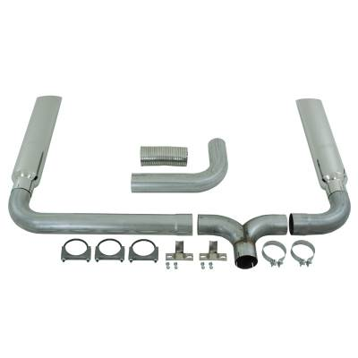 "SHOP BY PART - Exhaust System Kits - MBRP Exhaust - MBRP Exhaust 4"" Cat Back/DPF Back SMOKERS (incl. B1610 stacks), AL S9102AL"