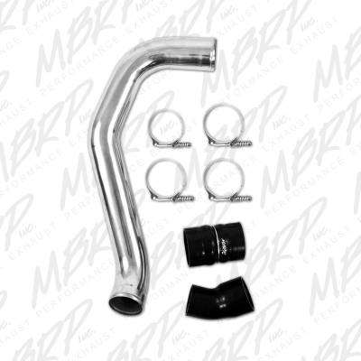"SHOP BY PART - Air Intake Kits - MBRP Exhaust - MBRP Exhaust 3"" Passenger Side Intercooler Pipe, polished aluminum IC1974"