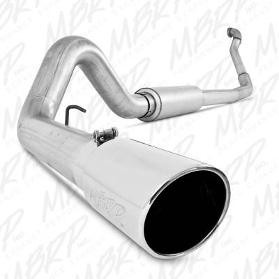 "SHOP BY PART - Exhaust System Kits - MBRP Exhaust - MBRP Exhaust 4"" Turbo Back, Single Side Exit, Off-Road (Aluminized 3"" downpipe), AL S6218AL"