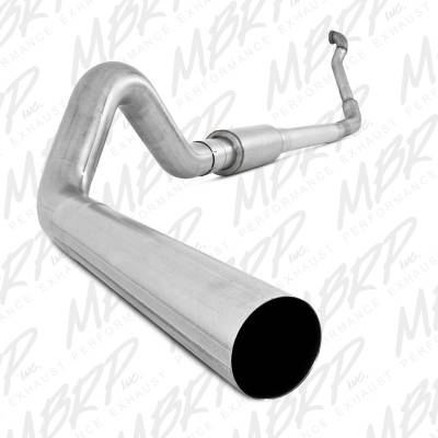 "SHOP BY PART - Exhaust System Kits - MBRP Exhaust - MBRP Exhaust 4"" Turbo Back, Single Side Off-Road (Aluminized downpipe) S6218P"
