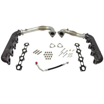 SHOP BY PART - Up Pipes - BD Diesel - BD Diesel UpPipes - Exhaust Manifolds Kit - Ford 2008-2010 6.4L 1041481