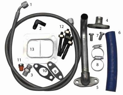 TURBO UPGRADES - TURBO KITS - Fleece Performance - Fleece Performance 2001-2010 Duramax S300/S400 Turbo Installation Kit FPE-TURBO-INST-KIT-DMAX